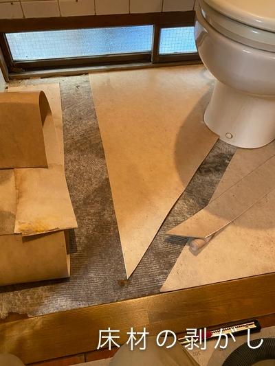 床材の剥がし写真