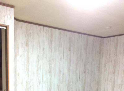 キッチン壁紙張替え